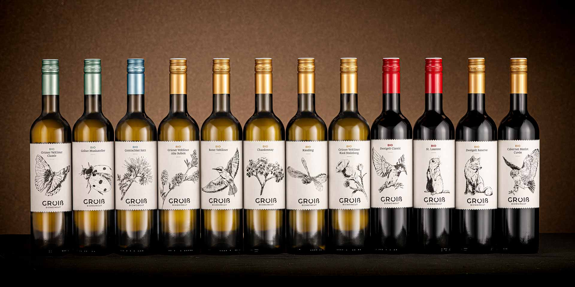Our new labels tell the story of how nature, plants and animals make our wines what they are. A commitment.
